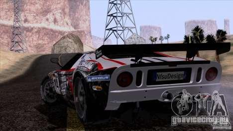 Ford GT Matech GT3 Series для GTA San Andreas вид сбоку
