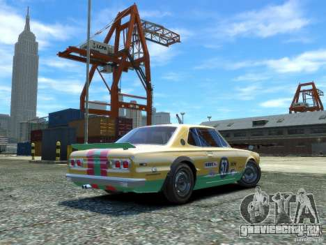 Nissan Skyline 2000 GTR для GTA 4 вид сзади