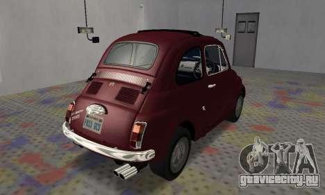 Fiat Abarth 595 SS 1968 для GTA San Andreas вид сзади слева