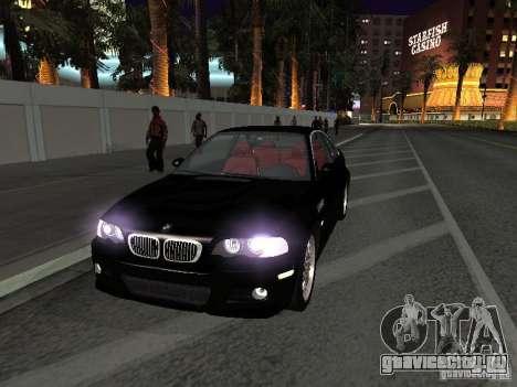 BMW M3 GT-R Stock для GTA San Andreas вид изнутри