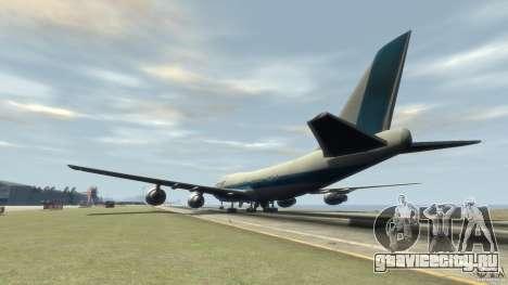 Boening 747-400 Kras Air для GTA 4 вид сзади слева