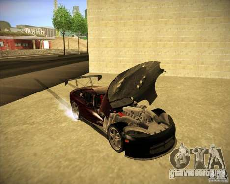 Dodge Viper TT для GTA San Andreas вид изнутри