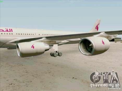 Airbus A-340-600 Quatar для GTA San Andreas вид сзади
