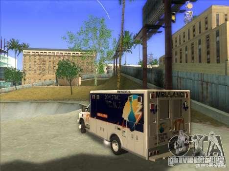 Ford E-350 Ambulance для GTA San Andreas вид слева