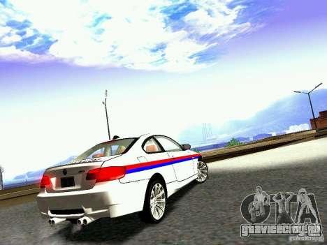 BMW M3 MotoGP SafetyCar для GTA San Andreas вид справа