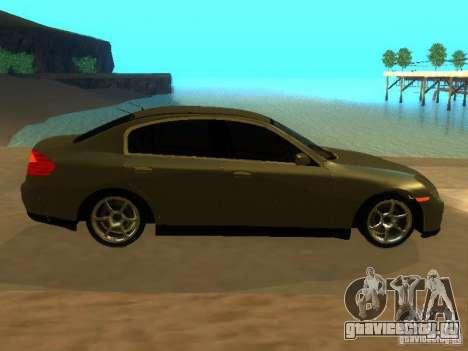 Nissan Skyline 300 GT для GTA San Andreas вид изнутри
