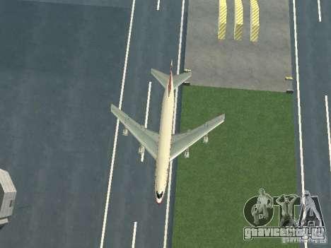 Boeing 747-100 для GTA San Andreas вид изнутри