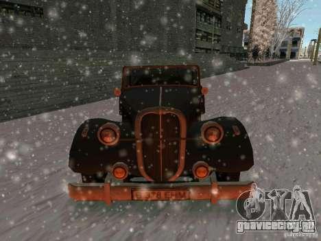 Авто из игры Саботаж для GTA San Andreas вид сзади
