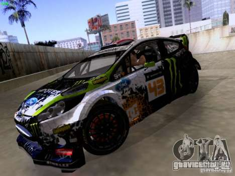Ken Block Ford Fiesta 2012 для GTA San Andreas вид сзади