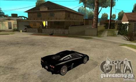 SSC Ultimate Aero Stock version для GTA San Andreas вид справа