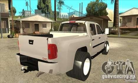 GMC 3500 HD Sierra Duramax Diesel 2010 для GTA San Andreas вид справа
