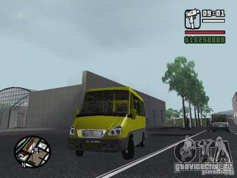 БАЗ 2215 ДЕЛЬФИН для GTA San Andreas вид справа