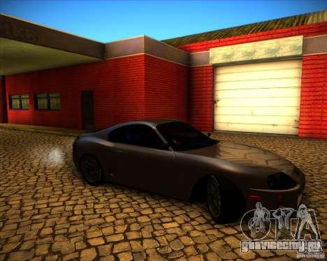 Toyota Supra SHE для GTA San Andreas вид изнутри