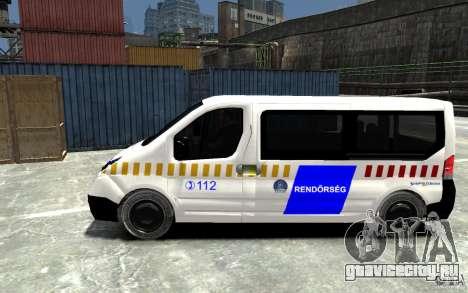 Opel Vivaro Hungarian Police Van для GTA 4 вид слева