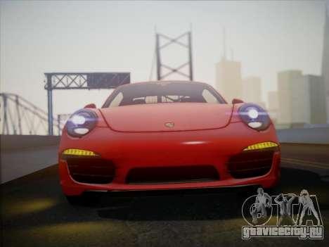 Porsche 911 (991) Carrera S для GTA San Andreas вид сзади слева