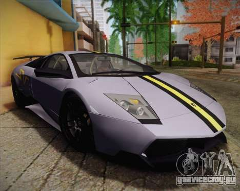 Lamborghini Murcielago LP 670/4 SV Fixed Version для GTA San Andreas вид сзади