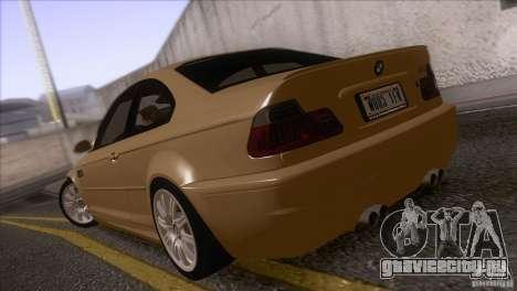 BMW M3 E48 для GTA San Andreas вид сзади слева
