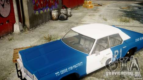 Dodge Monaco 1974 (bluesmobile) для GTA 4 вид сбоку