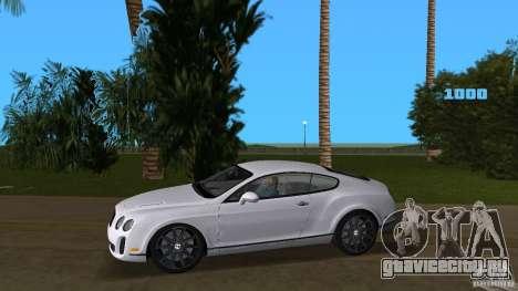 Bentley Continental Supersport для GTA Vice City вид слева