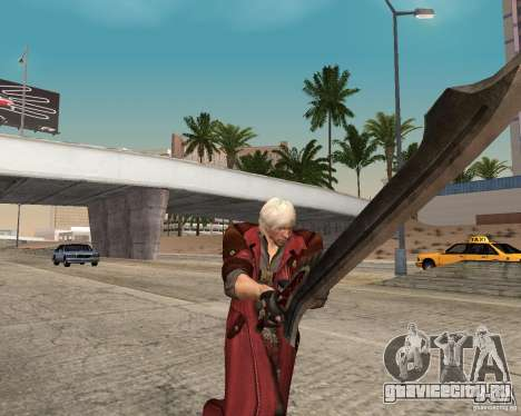 Nero sword from Devil May Cry 4 для GTA San Andreas второй скриншот