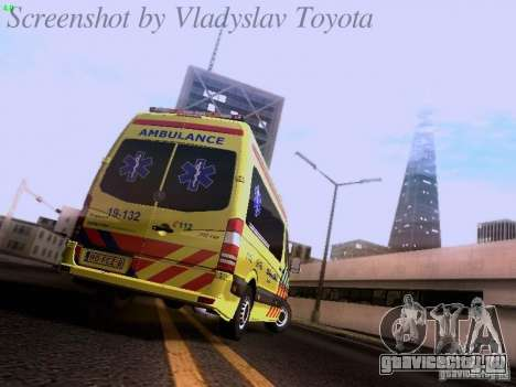 Mercedes-Benz Sprinter Ambulance для GTA San Andreas вид справа