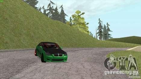 BMW M5 E60 Darius Balys для GTA San Andreas вид сверху