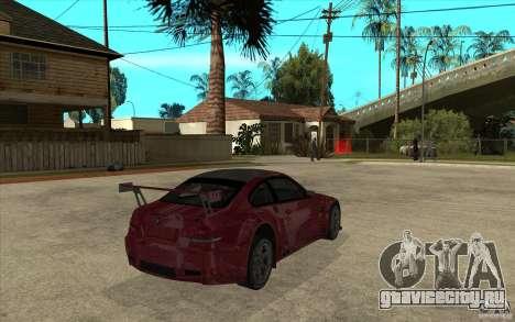 BMW M3 2009 для GTA San Andreas вид справа