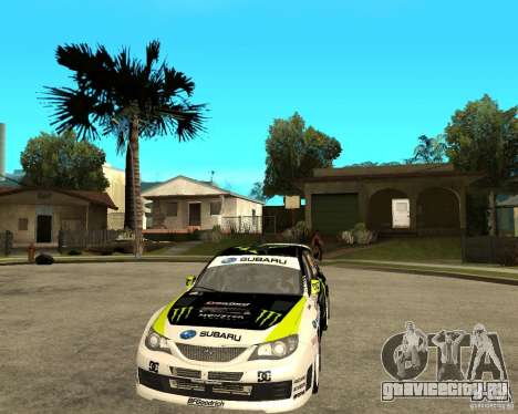 Ken Block Subaru Impreza WRX STi 2009 для GTA San Andreas вид сзади