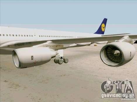 Airbus A-340-600 Lufthansa для GTA San Andreas вид сзади