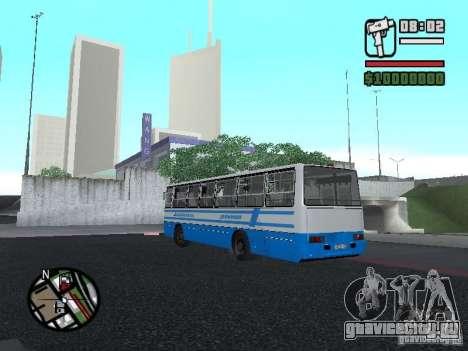 Ikarus 260 Безопасность движения для GTA San Andreas вид справа