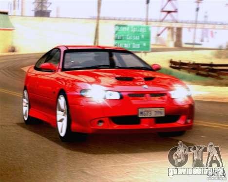 Vauxhall Monaro VXR для GTA San Andreas вид сзади слева