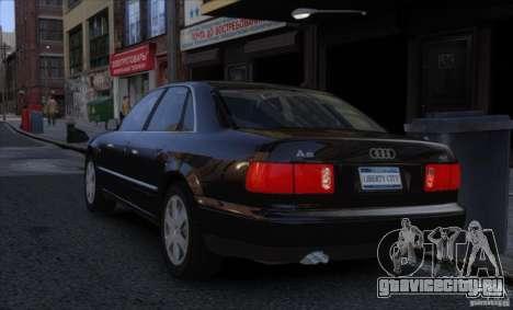 Audi A8 2000 для GTA 4 вид слева