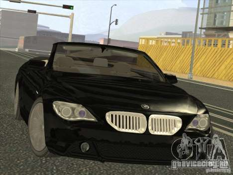 BMW 650I для GTA San Andreas вид сзади