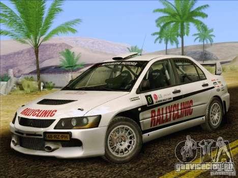 Mitsubishi Lancer Evolution IX Rally для GTA San Andreas салон