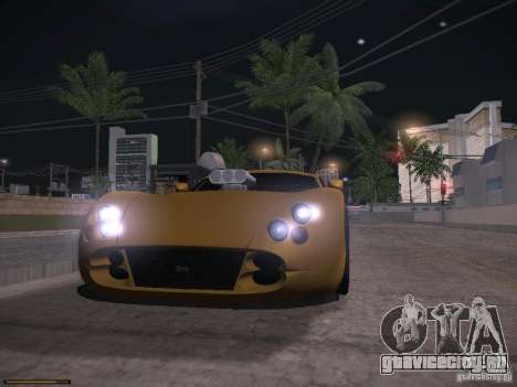 TVR Cerbera Speed 12 для GTA San Andreas вид сверху