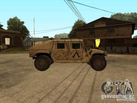 War Hummer H1 для GTA San Andreas вид слева