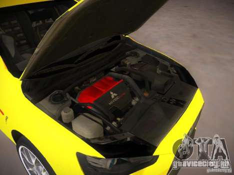 Mitsubishi Lancer Evo X Tunable для GTA San Andreas вид сзади
