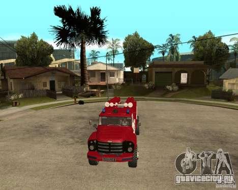 Зил 133ГЯ АЦ пожарный для GTA San Andreas вид сзади