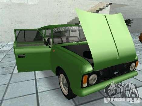 ИЖ 21251 Комби для GTA San Andreas вид изнутри