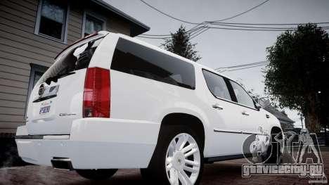 Cadillac Escalade ESV для GTA 4 вид сзади слева