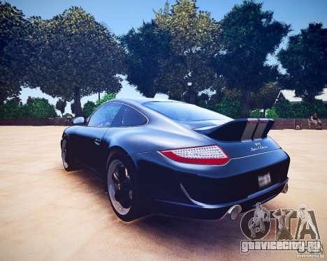 Porsche 911 Sport Classic 2011 v2.0 для GTA 4 вид сзади
