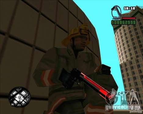 Chrome black red gun pack для GTA San Andreas четвёртый скриншот