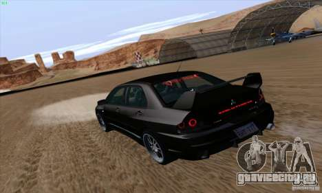 Mitsubishi Lancer EVO VIII BlackDevil для GTA San Andreas вид слева