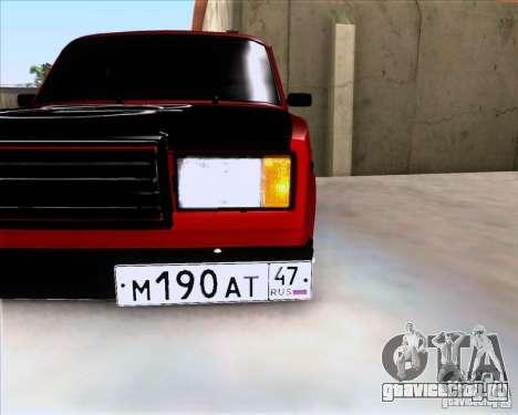 ВАЗ 2107 Gangsta для GTA San Andreas