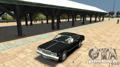 Plymouth Volare Coupe 1977 для GTA 4 вид изнутри