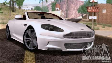 Aston Martin DBS Volante 2009 для GTA San Andreas вид сзади слева