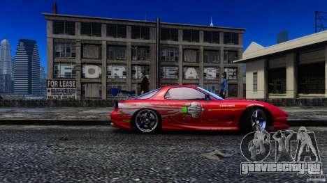 Mazda RX-7 FnF для GTA 4 вид сзади слева