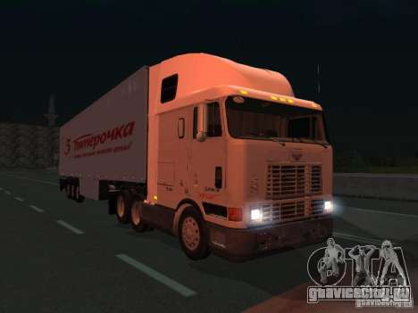 International Navistar 9800 для GTA San Andreas вид сзади слева