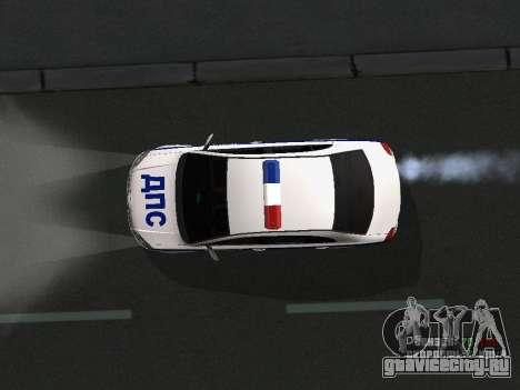 Toyota Avensis ДПС для GTA San Andreas вид сбоку