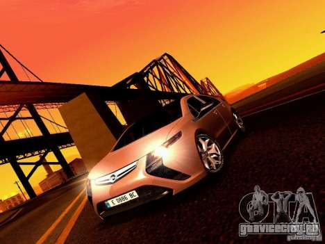 Opel Ampera для GTA San Andreas вид сзади